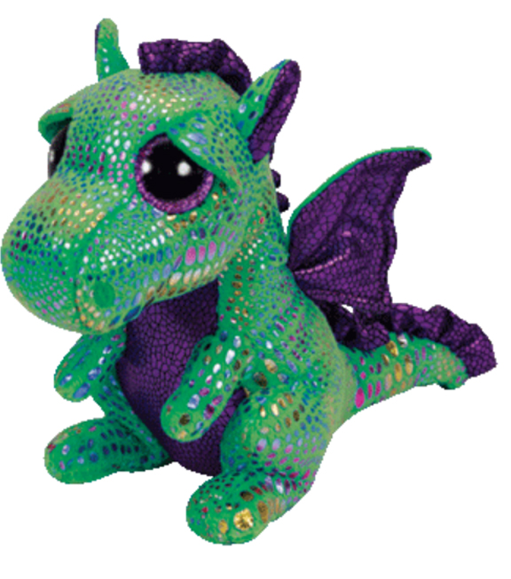 TY Beanie Boo Cinder Green Dragon