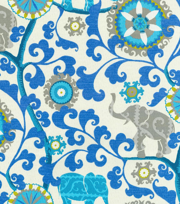 P/K Lifestyles Outdoor Fabric 54\u0022-Menagerie/Sapphire