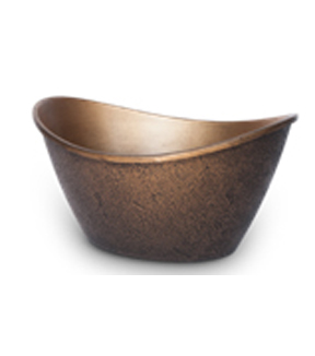 Bloom Room Mobius Oval Planter-Patina Bronze