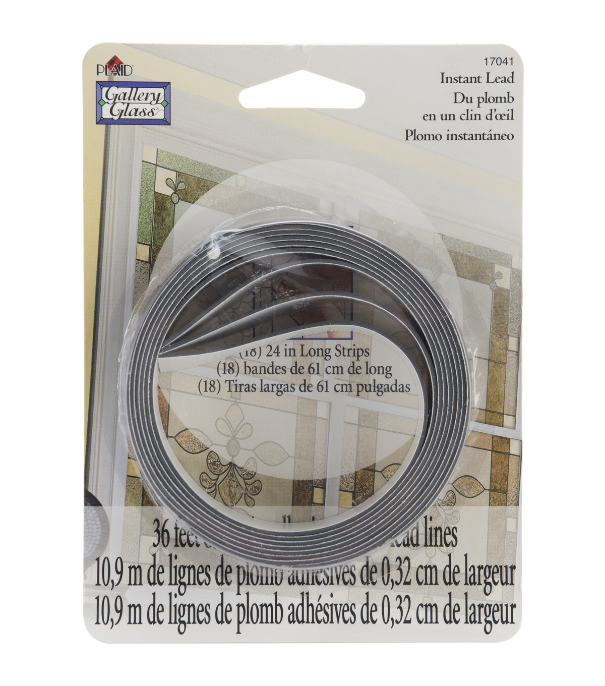 Gallery Glass Instant Lead Lines 24\u0022 8/Pkg-Black