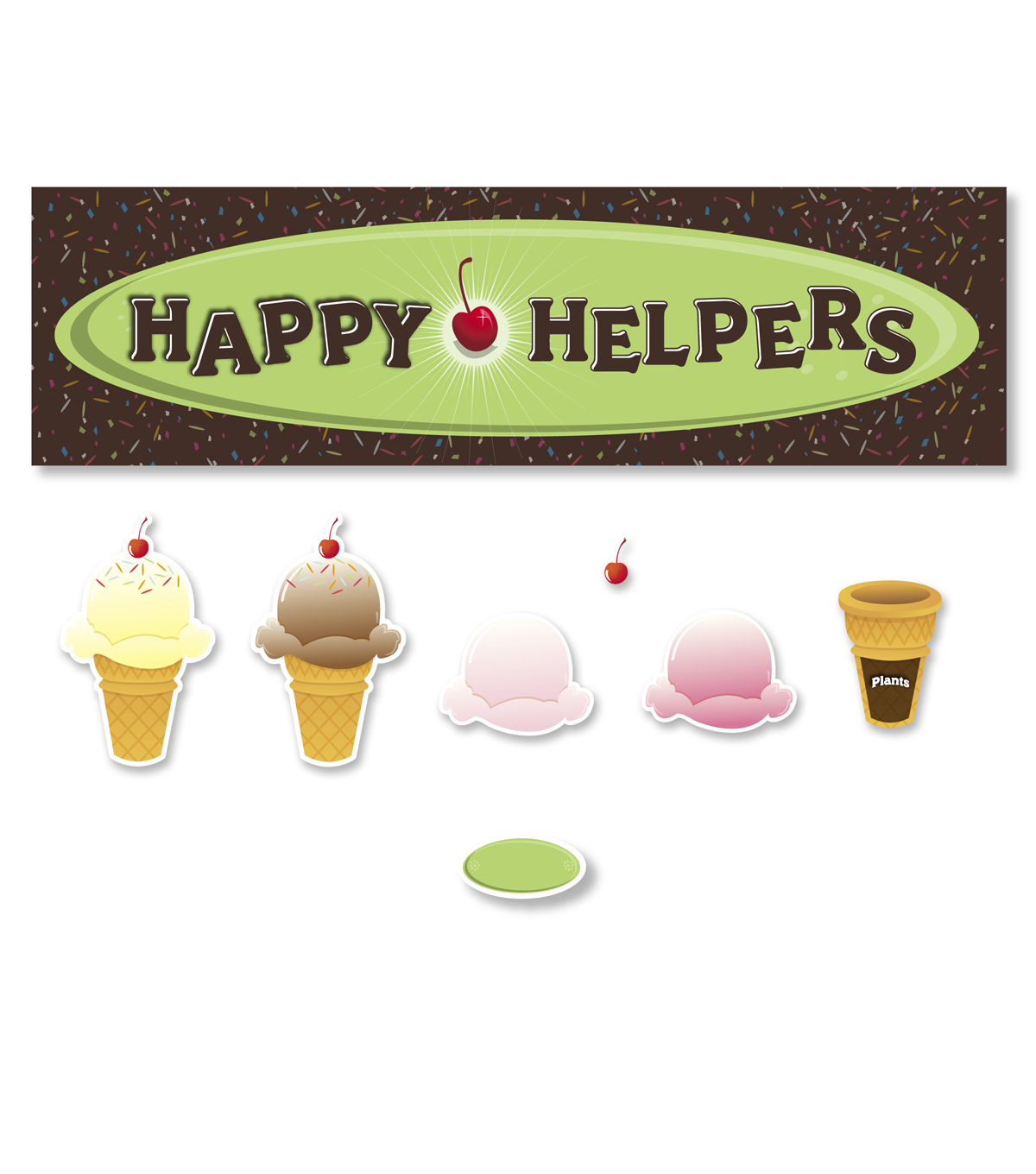 Busy Kids Learning Mini Bulletin Board Set-Ice Cream Cones