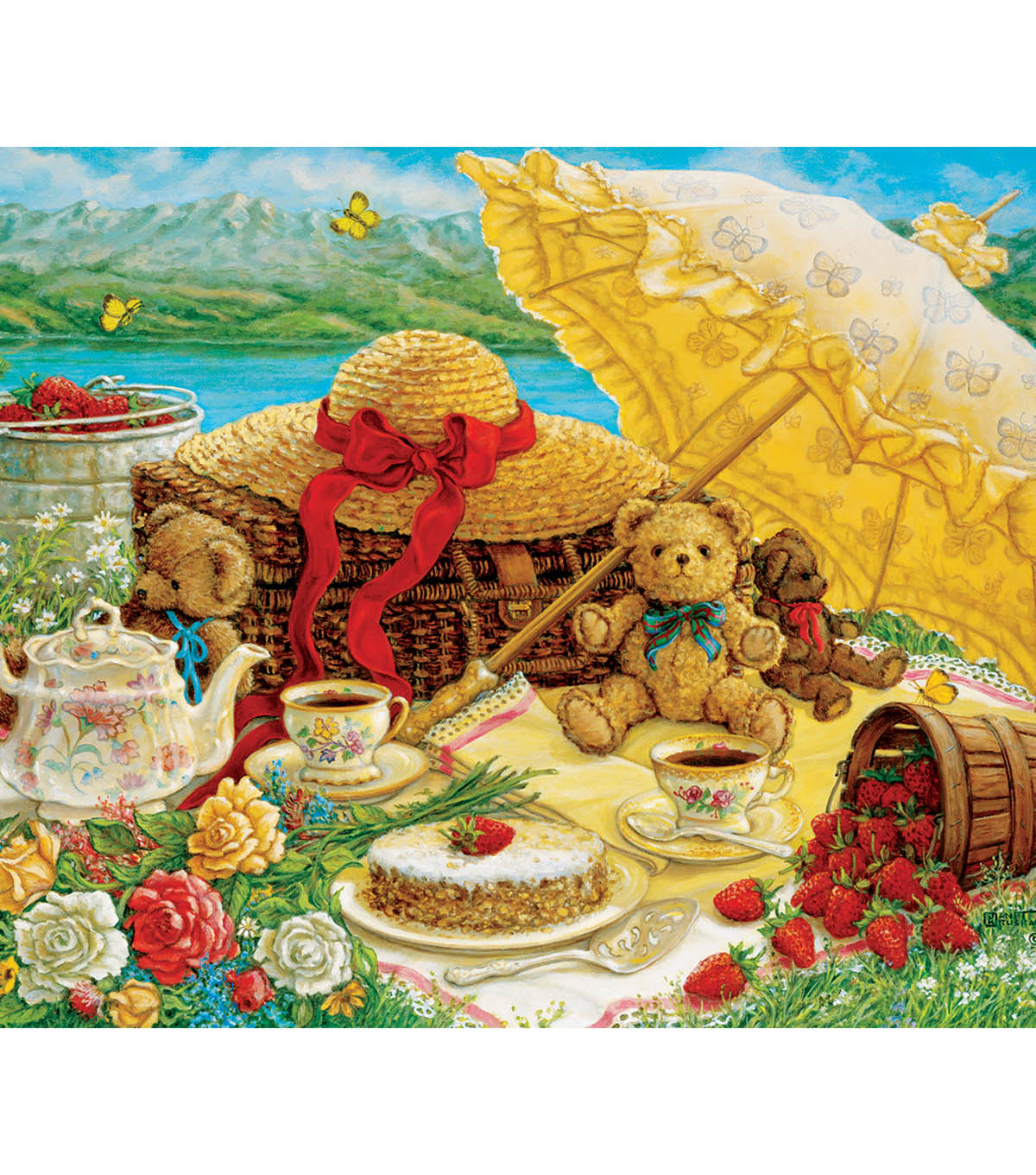 Jigsaw Puzzle 500 Pieces 24\u0022X18\u0022-Teddy Bear Picnic