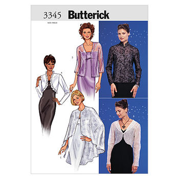 Butterick Pattern B3345-Misses' Evening Jackets, Boleros and Cape