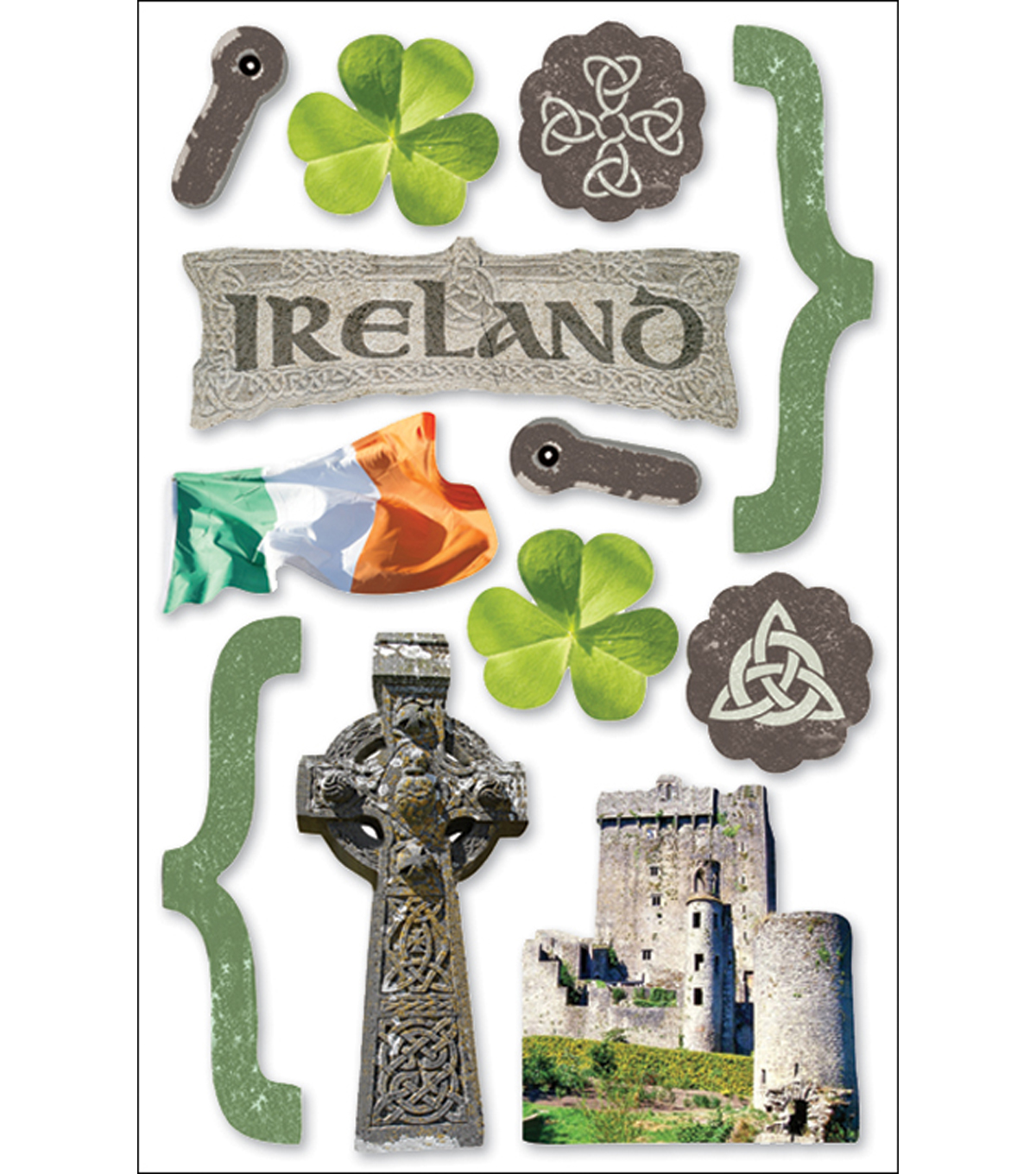 Paper House 3D Stickers-Ireland