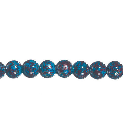 "Darice® 8mm Marble Glass Beads-7""/Blue"
