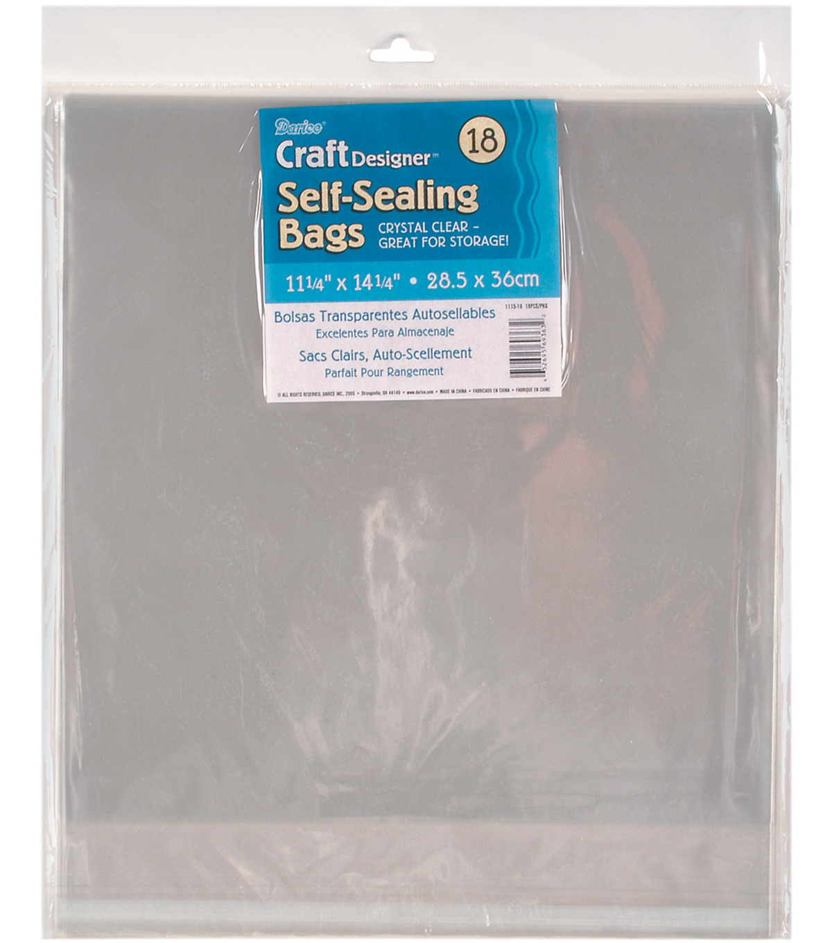 "Darice Self Sealing Bags 11.25""x14.25"""