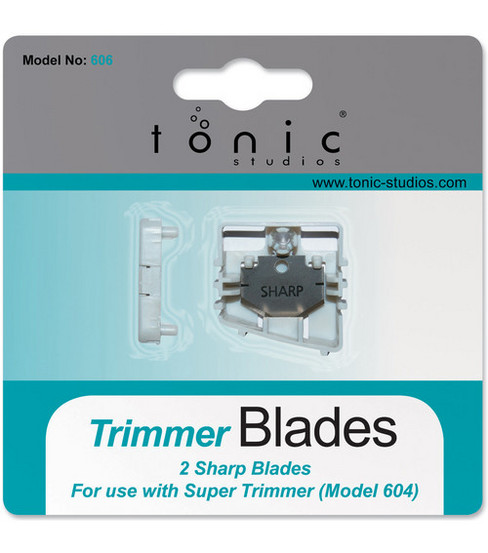 Tonic Studios 12\u0022 Super Trimmer Replacement Blades-2PK/Straight