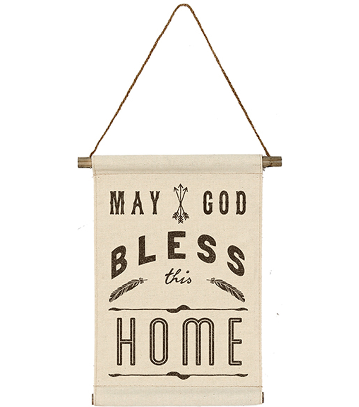 Linen Banner 10''x13''-May God Bless This Home