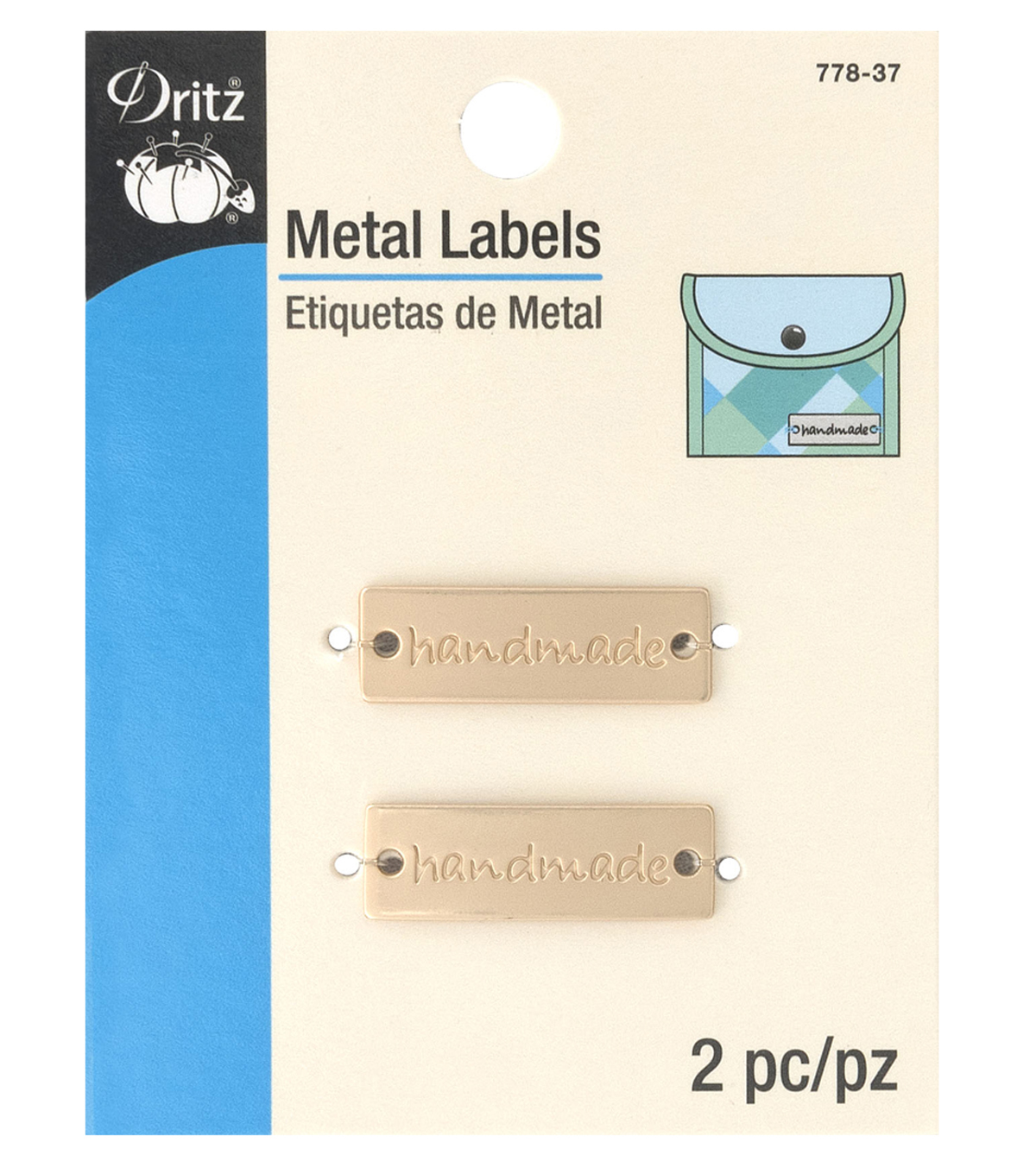 Dritz Metal Rectangle Labels-handmade