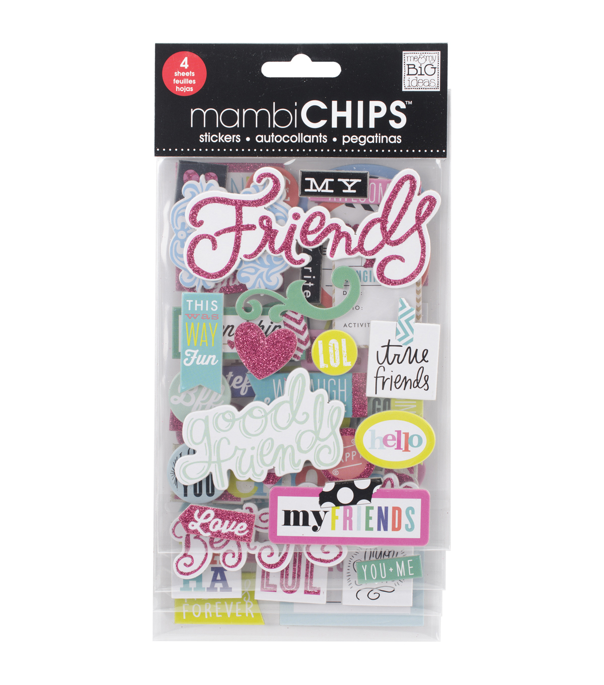 Me & My Big Ideas Mambi Chips Good Friends Stickers