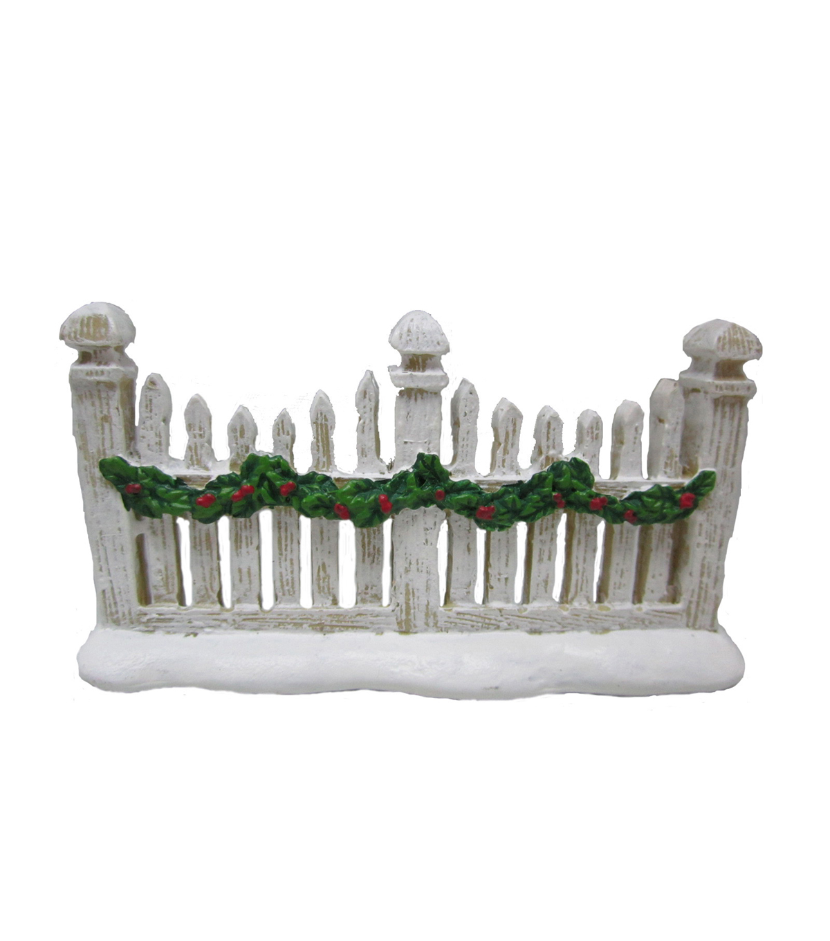 Maker\u0027s Holiday Littles Resin Fence-White
