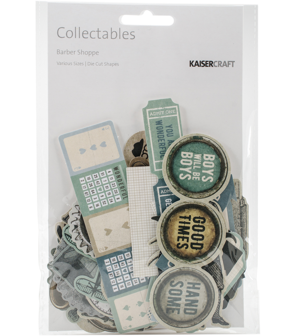 Kaisercraft Collectables Cardstock Die-Cuts-Barber Shoppe