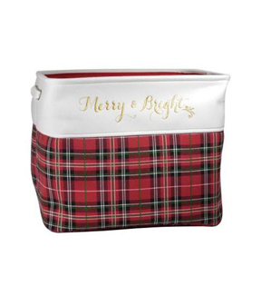 Maker's Holiday Large Soft Bin-Plaid