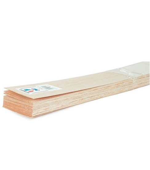 Balsa Wood 36\u0022 Sheet-20PK/1/8\u0022x3\u0022