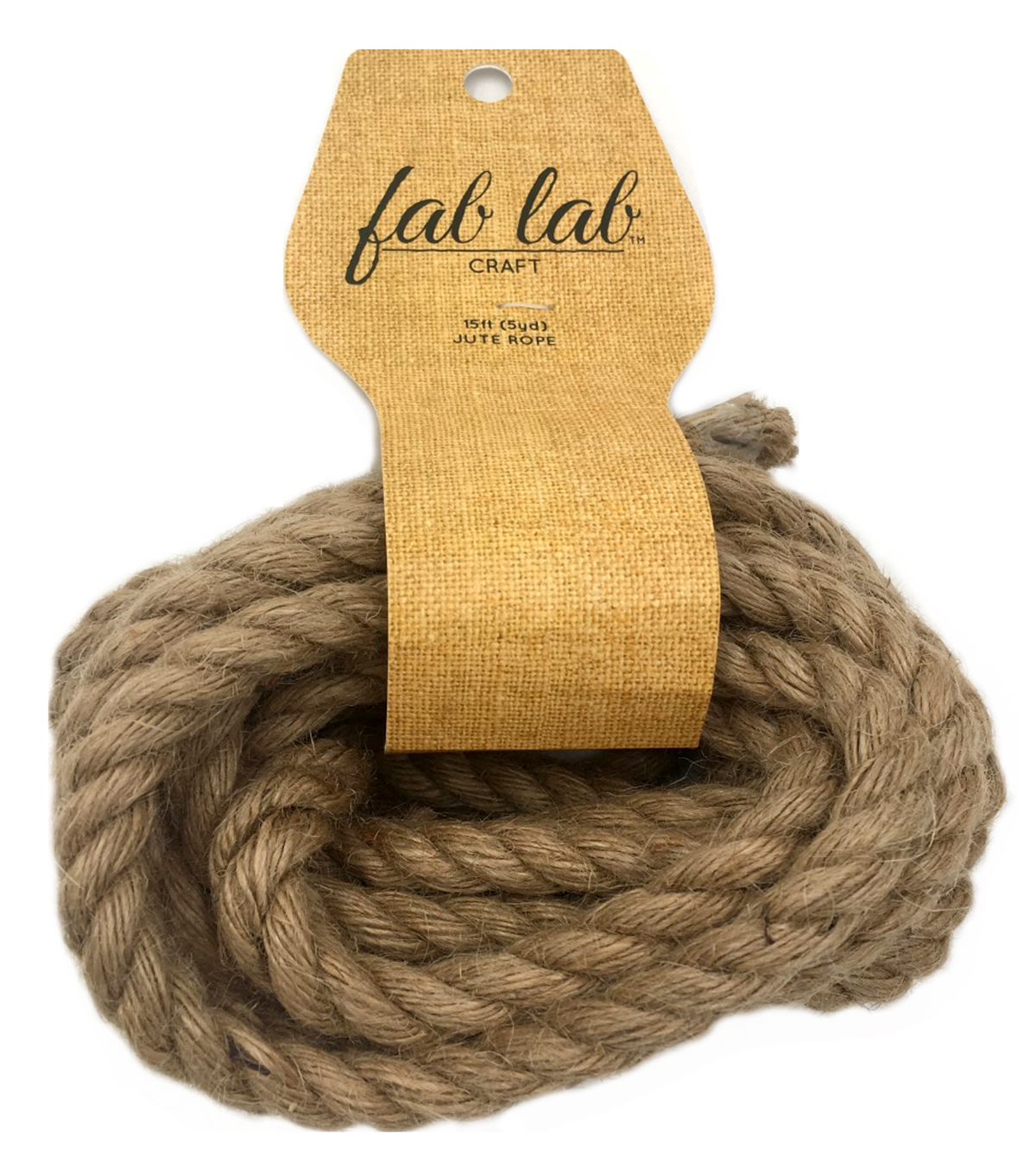 Fab Lab™ 3/8 in x 15 ft Jute Craft Rope