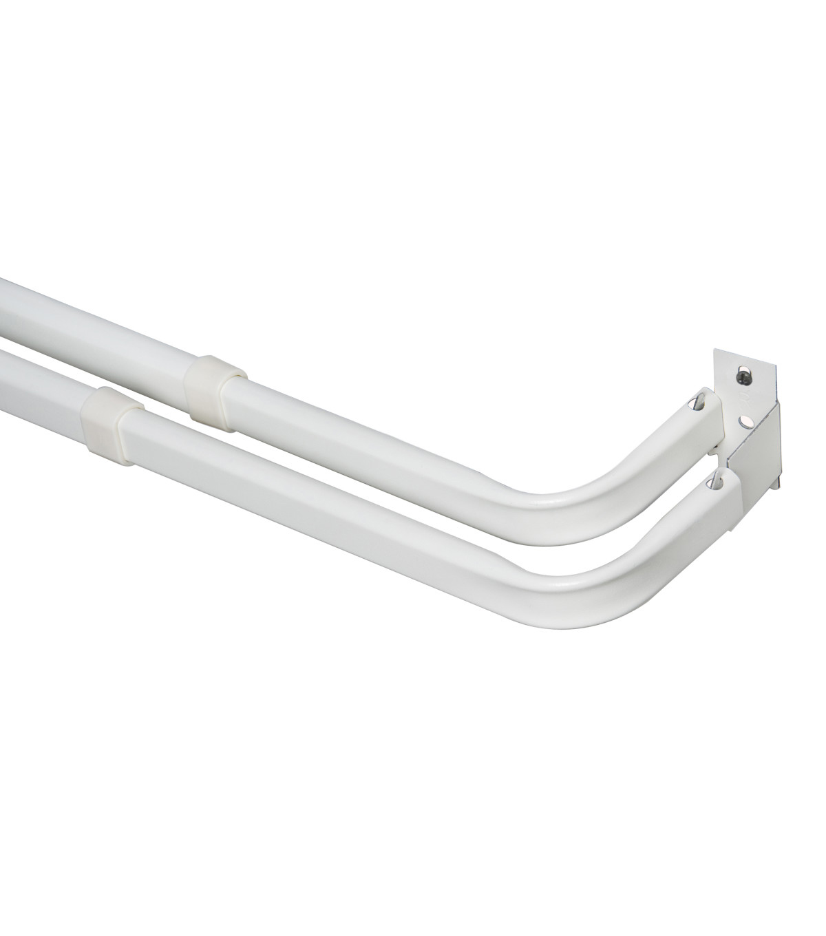 Kenney Single Curtain Rod-White
