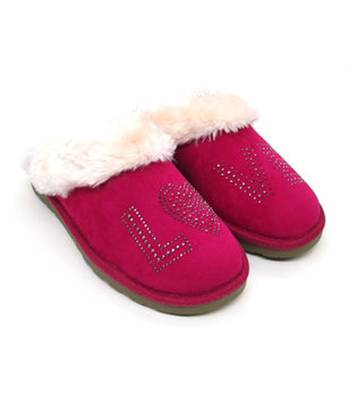 The 5 & Twine™ Slippers Crystal Scuff-Pink