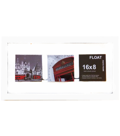 Wood Float Wall Frame 8x16-White