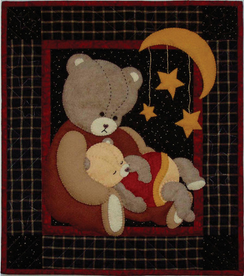 "Baby Bear Wall Quilt Kit-13""X15"""