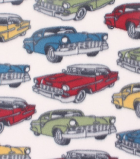 Blizzard Fleece Fabric 59\u0022-Classic Cars