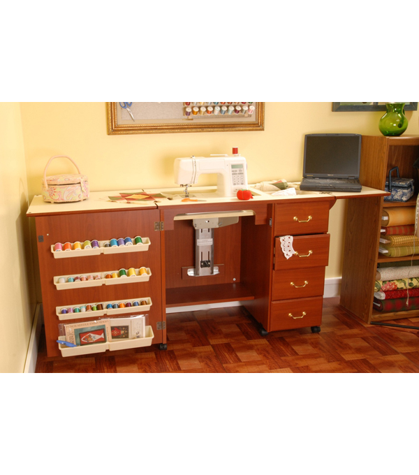 Norma Jean Cherry Sewing Cabinet
