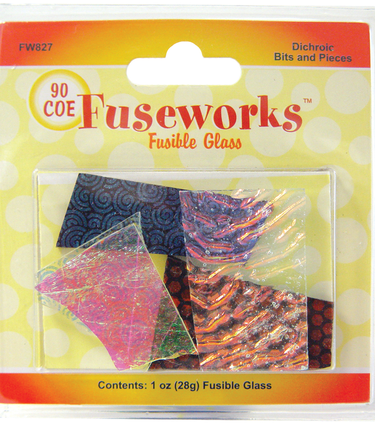 Diamond Tech Crafts Fuseworks Dichroic Glass Bits 1 Ounce-Assorted