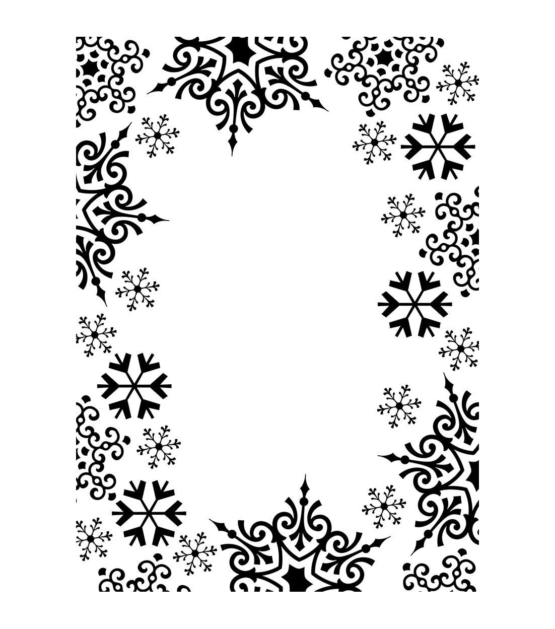Darice Snowflake Trim Embossing Folder