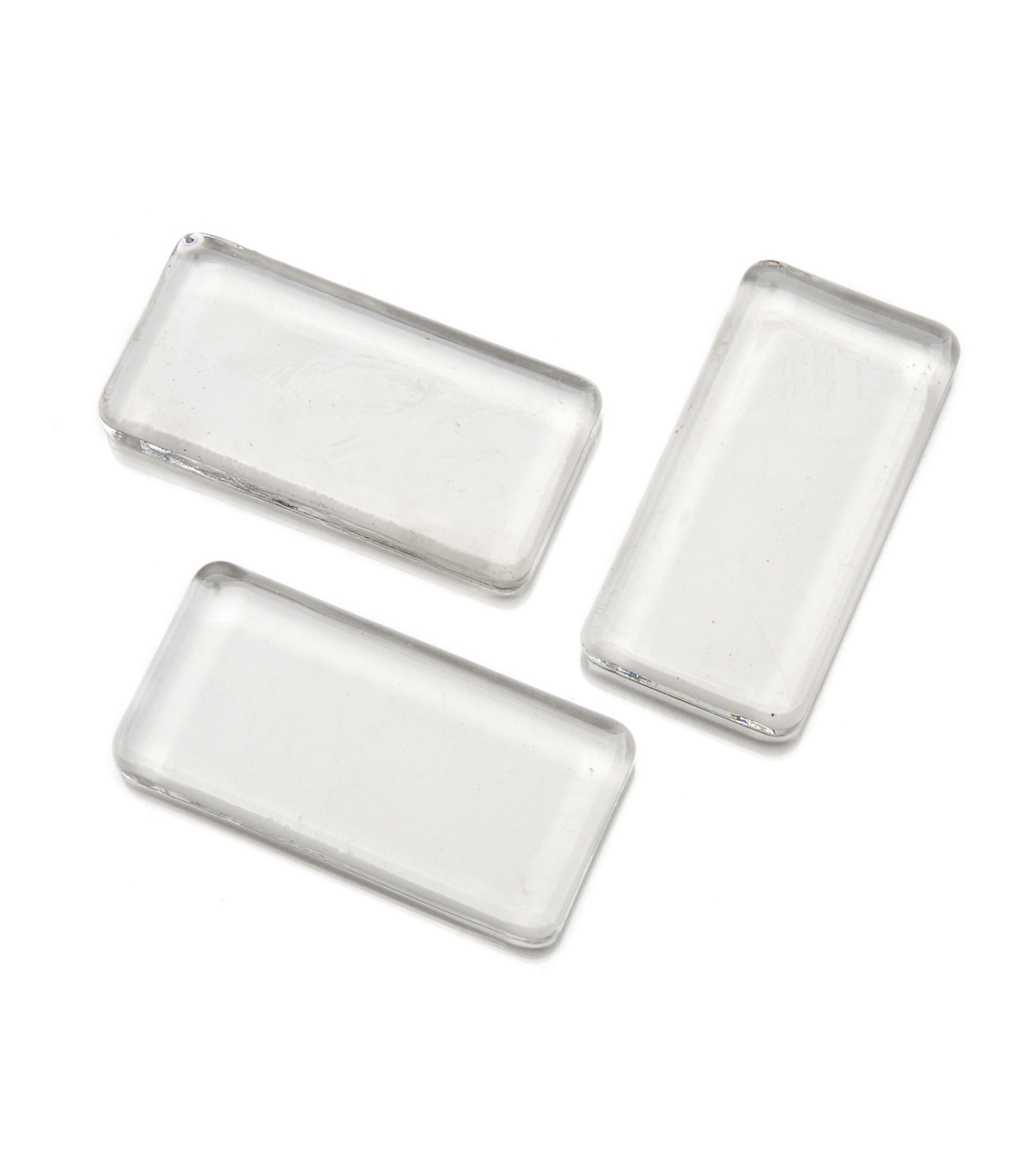 Glass Jewelry Tiles, 25mm x 50mmRectangle, 3pc/pkg