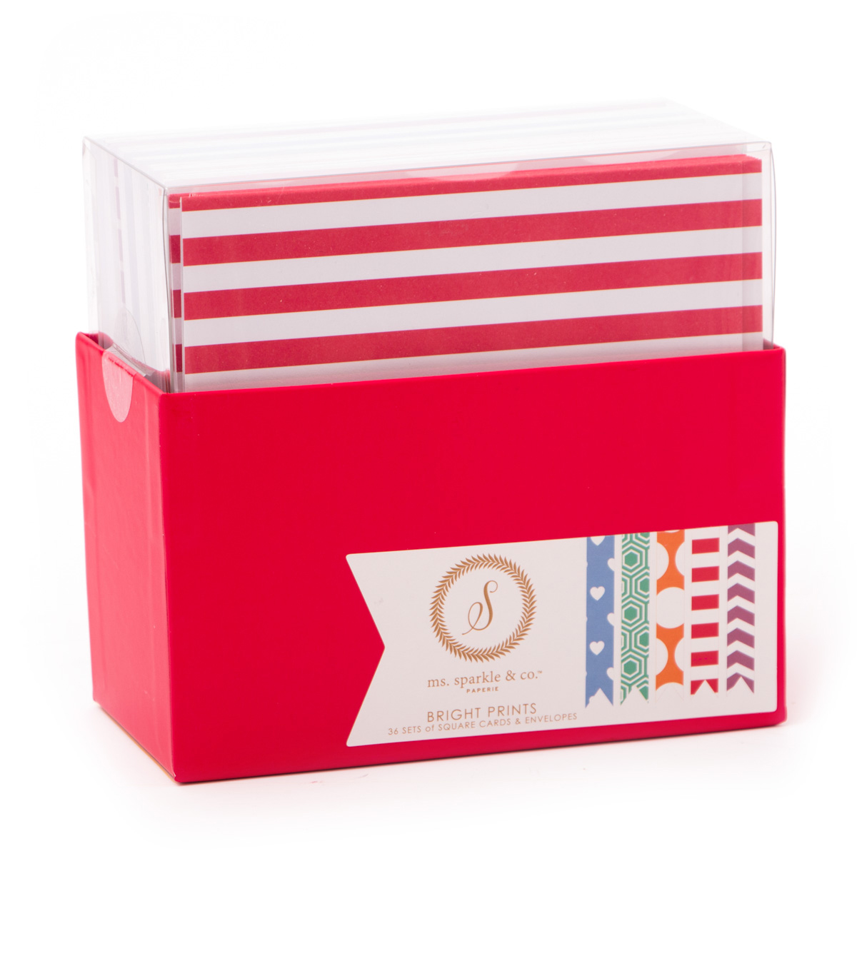 Ms. Sparkle & Co. Square Cards & Envelopes-Bright Prints