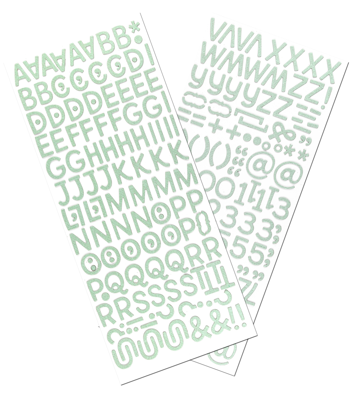 Sticko® Newsprint Billy Dimensional Alphabet Stickers-Teal