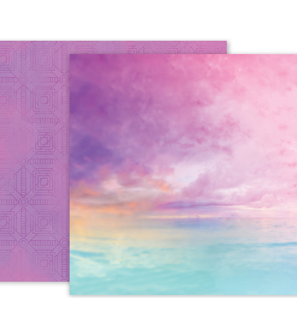 Pink Paislee Summer Lights Double-Sided Cardstock 12\u0022X12\u0022-#02
