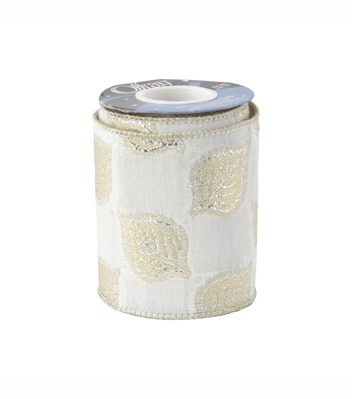 "Offray Wired Perla Luxury Ribbon 4"" x 3 Yards"