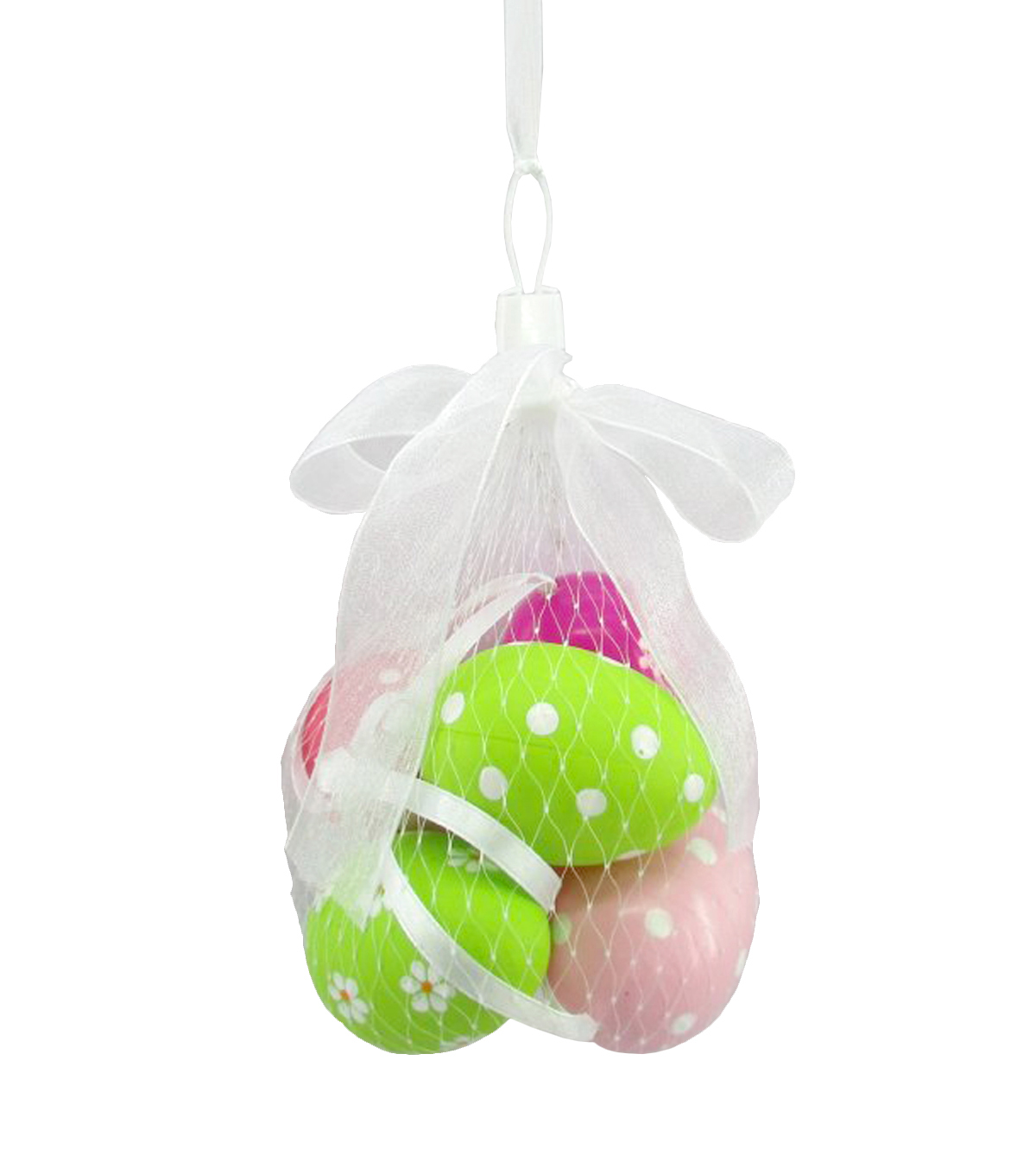 Easter 6pcs Eggs In Mesh Bag-Bright Pattern