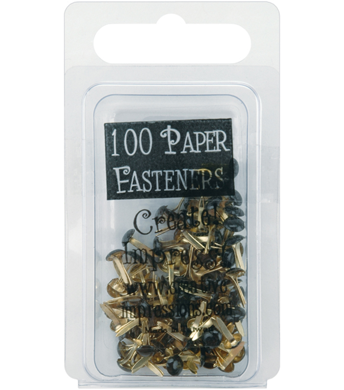 Creative Impressions Mini Painted Metal Paper Fasteners-100PK