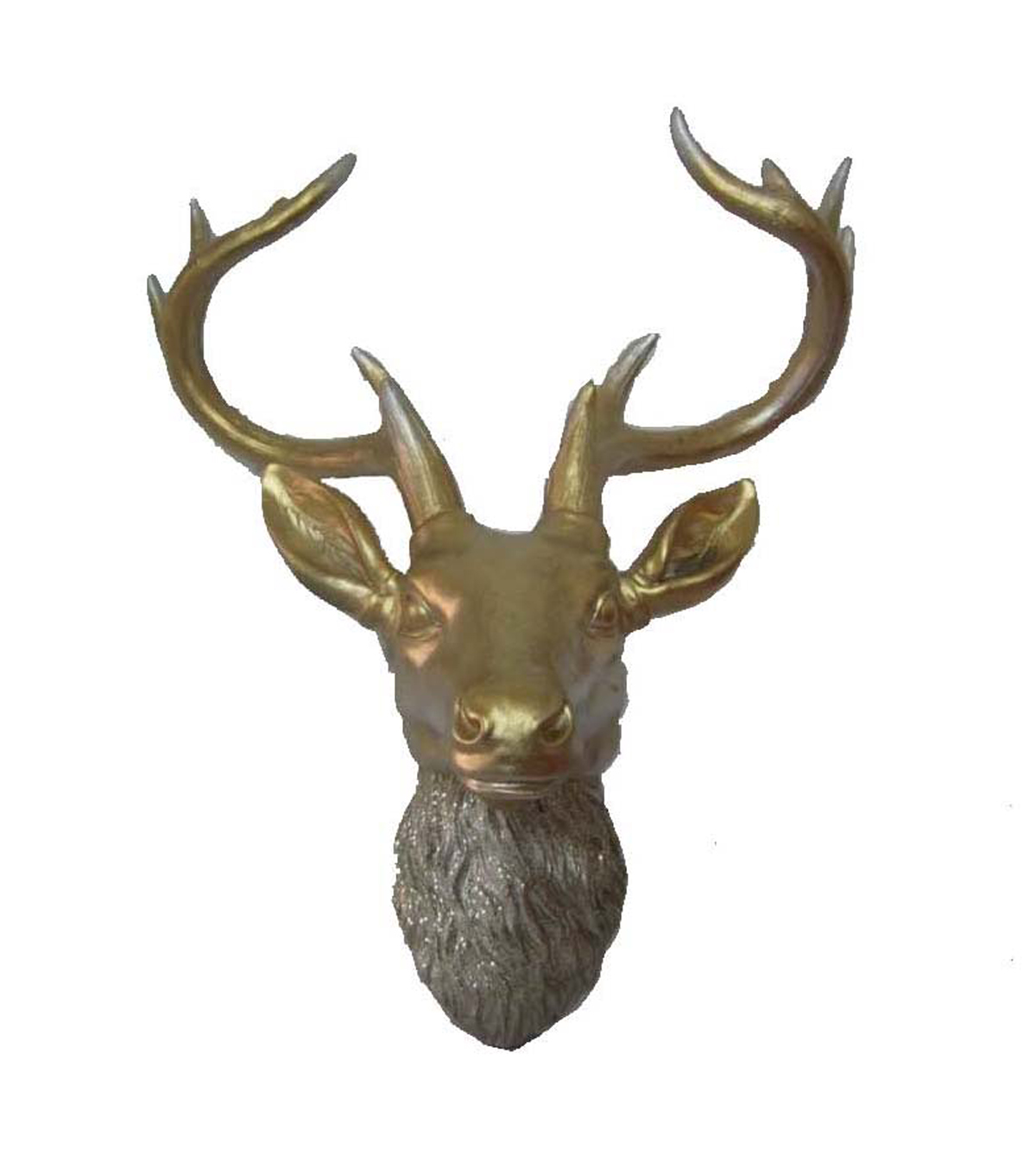 Maker\u0027s Holiday Gold Resin Deer Head Wall Decor