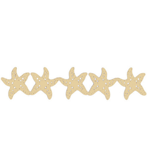 Scrapbook 101 12\u0022 Die-Cut Borders-Starfish
