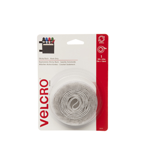 Sticky Back 10ft x 3/4in hook tape, white