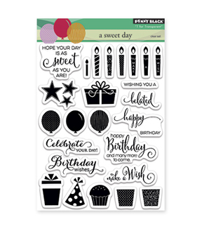 Penny Black Clear Stamps-A Sweet Day