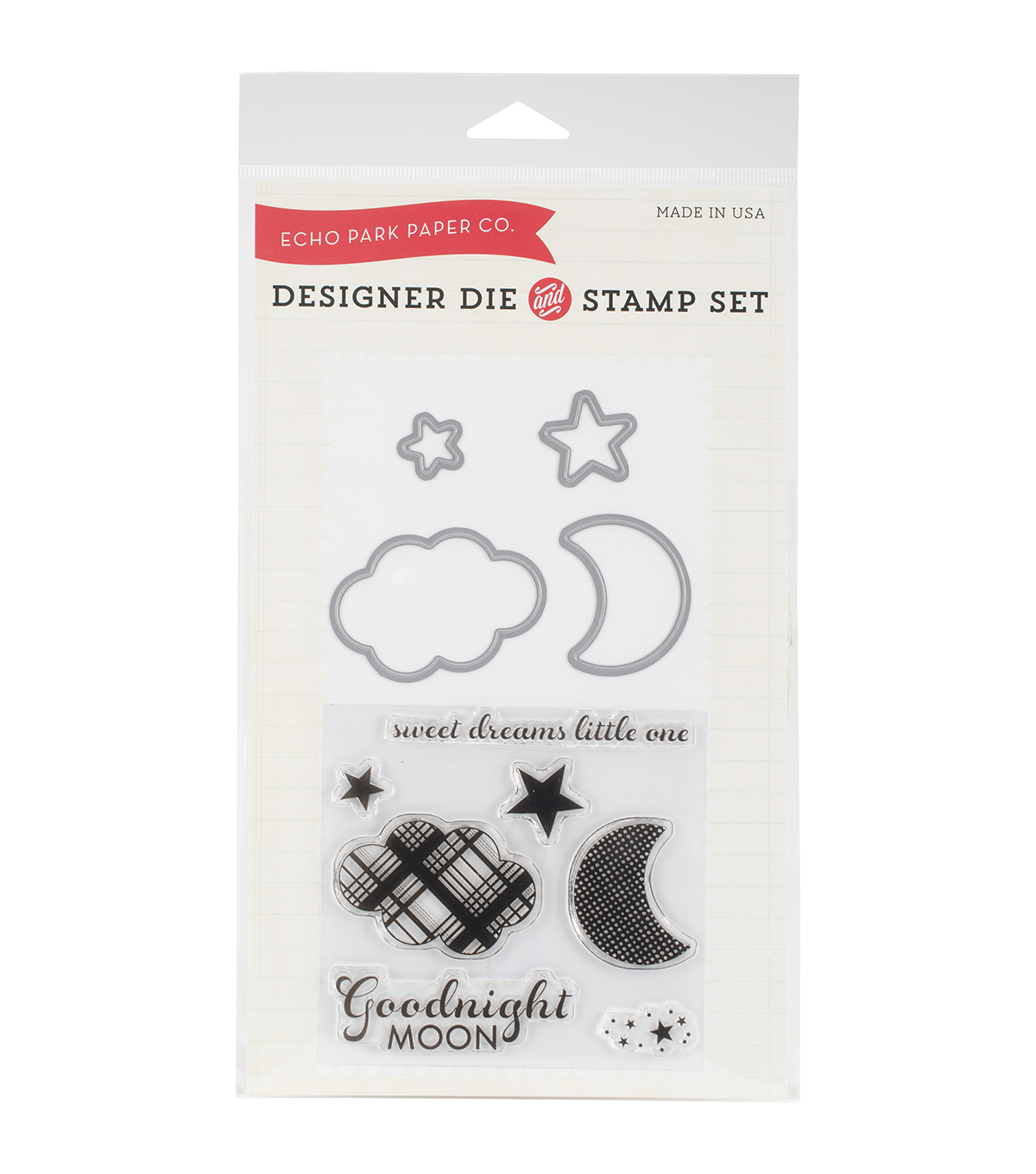 Echo Park Paper Company Goodnight Moon Die & Stamp Combo Set