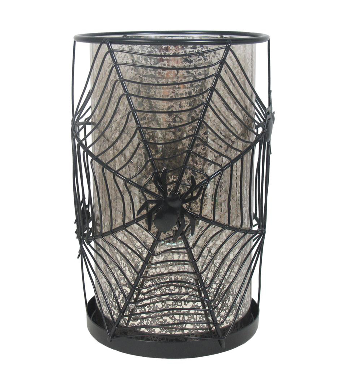 Maker\u0027s Halloween Tall Mercury Candle Holder-Spider Web
