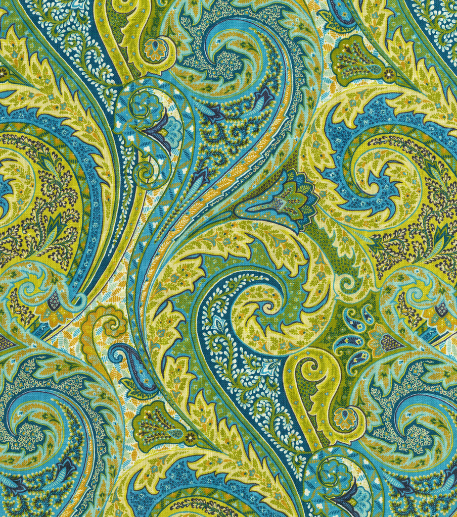 Home Decor 8\u0022x8\u0022 Fabric Swatch-Williamsburg Jaipur Paisley Peacock