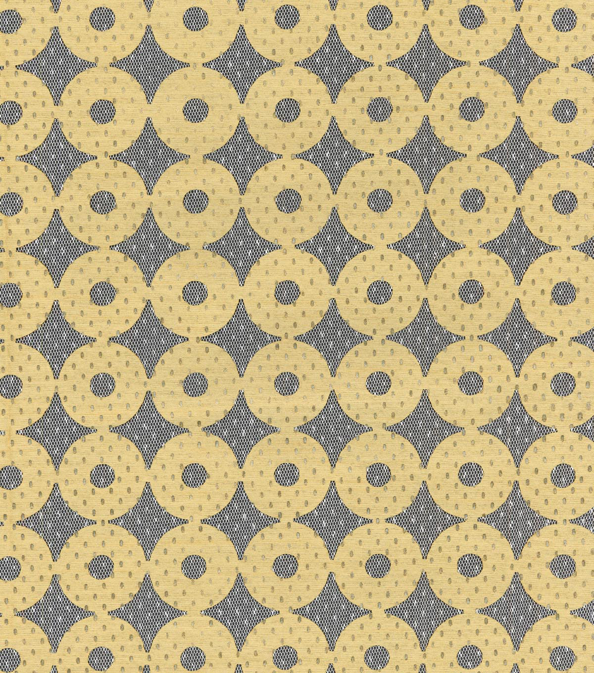 IMAN Home Sheer Fabric 57\u0022-Sayan Circles/Ore