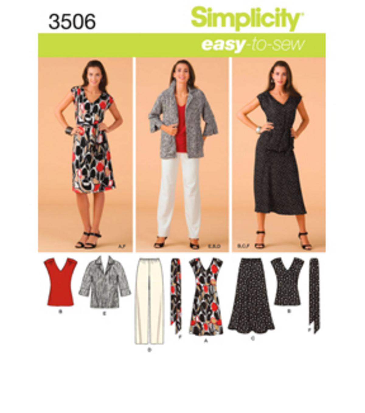 Simplicity Pattern 3506AA 10 12 14 1-Simplicity Misses