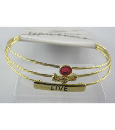 Bangle Expressions Gold Bracelet Assortment 021