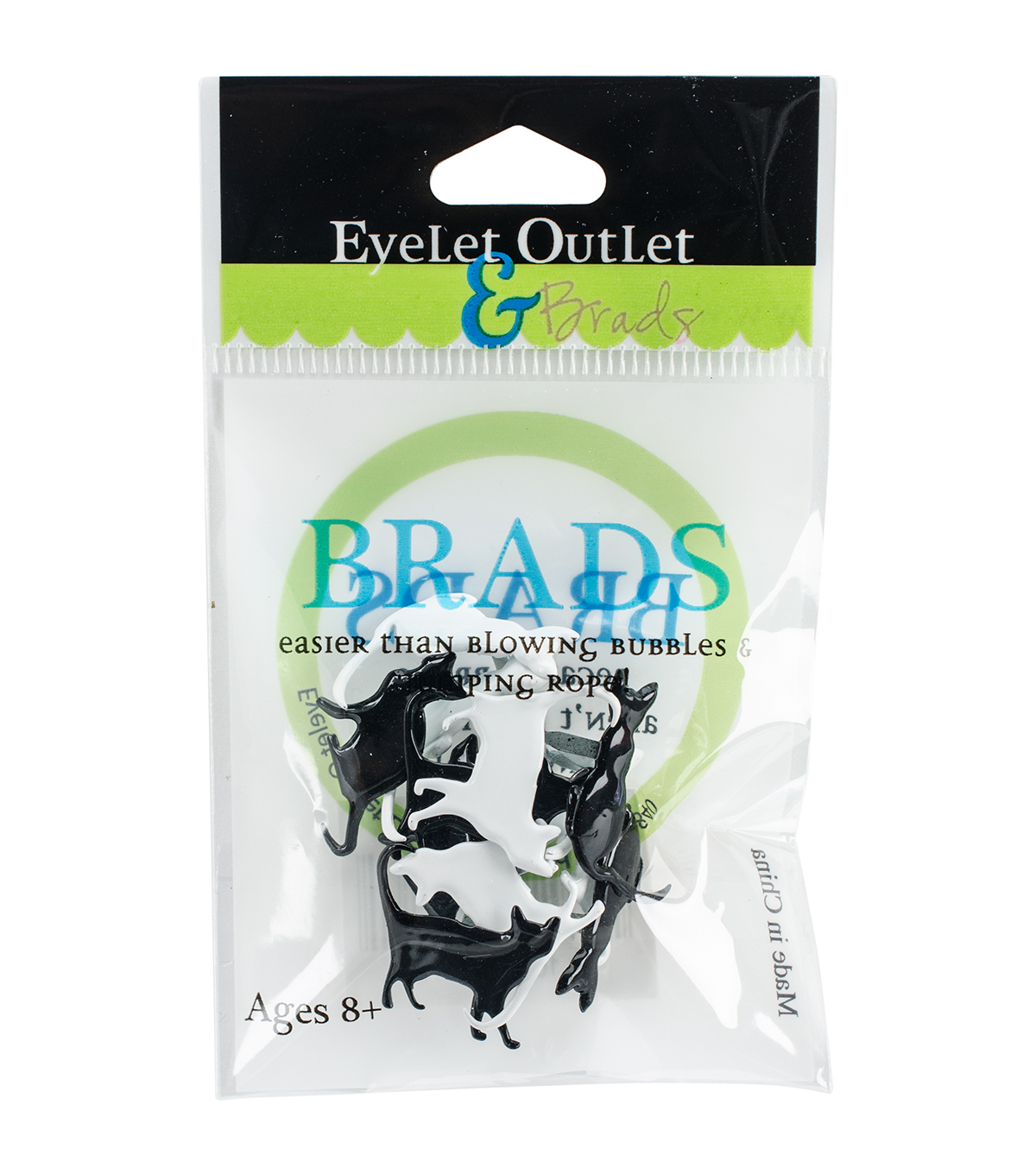 Eyelet Outlet 12ct Shape Brads-Silhouette Cat