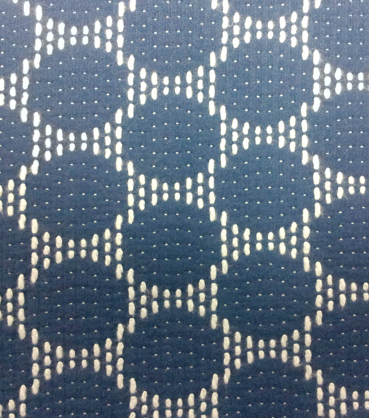 Azure Collection- Jacquard Dot Navy & Ivory Fabric