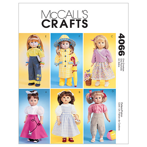 McCall\u0027s Crafts Doll Clothes-M4066