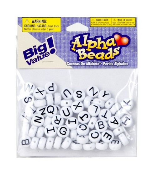 Big Value! Alpha Beads-White 10mm