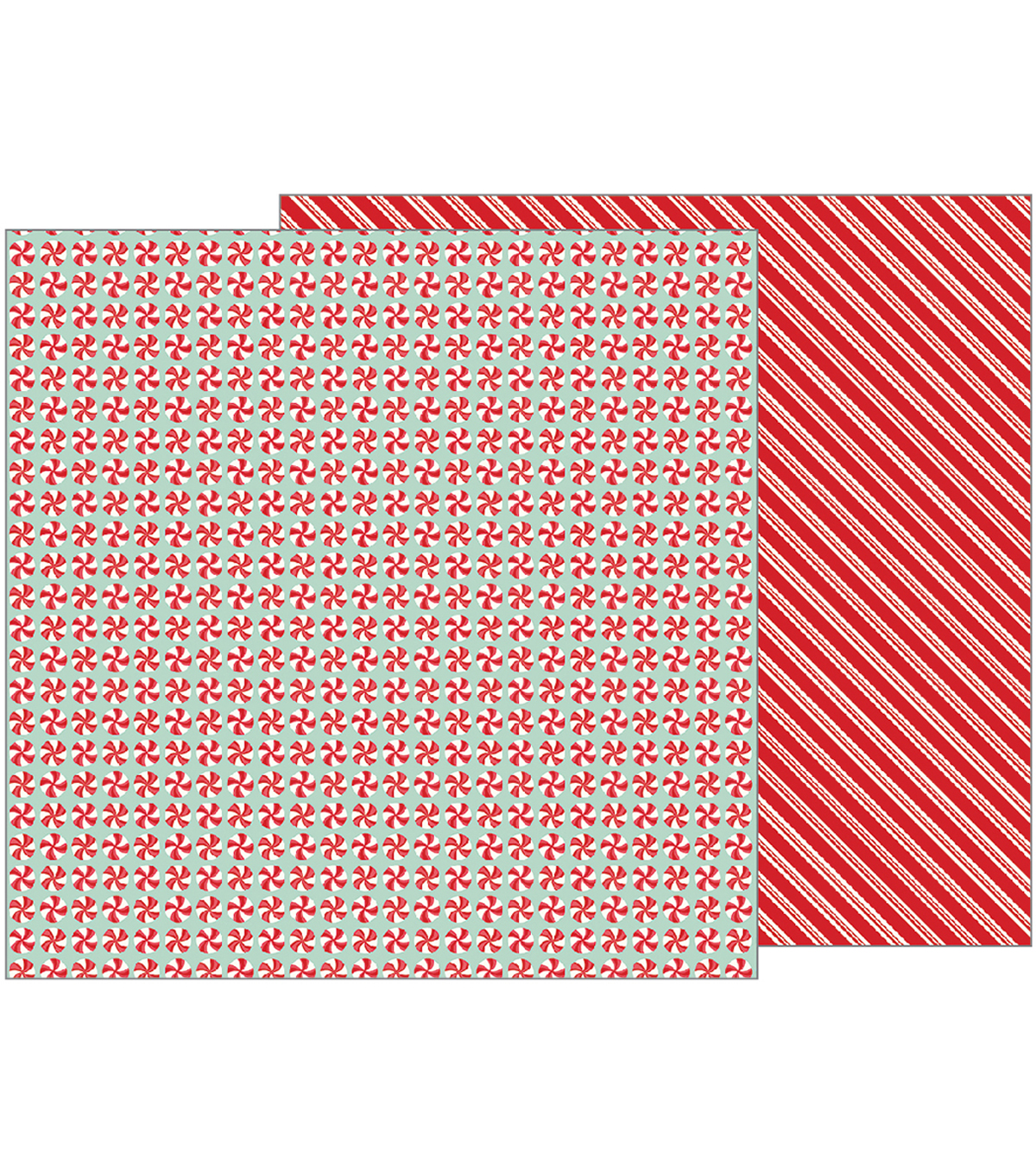 "Merry Merry Double-Sided Cardstock 12""X12""-Peppermints"