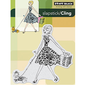 Penny Black Slapstick/Cling Rubber Stamp Fashion Leader